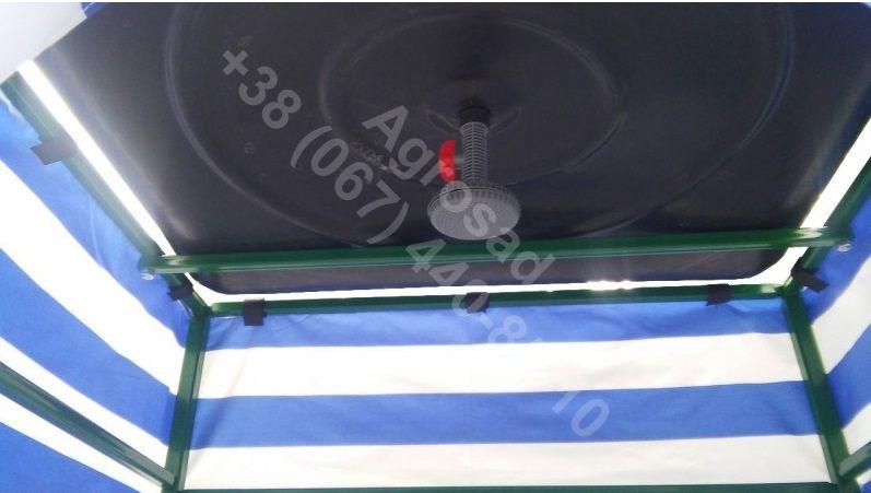 Летний душ, душевая кабинка разборная с удлинённым тентом