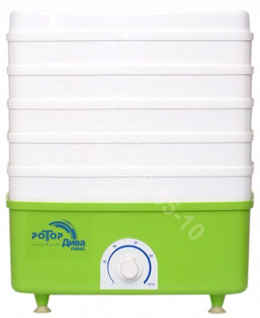Электросушилка для овощей и фруктов РОТОР Дива Люкс СШ-010 (5 поддонов, цветная упаковка), квадратная
